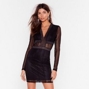 Nasty Gal Romance in the Dark Lace Black Dress